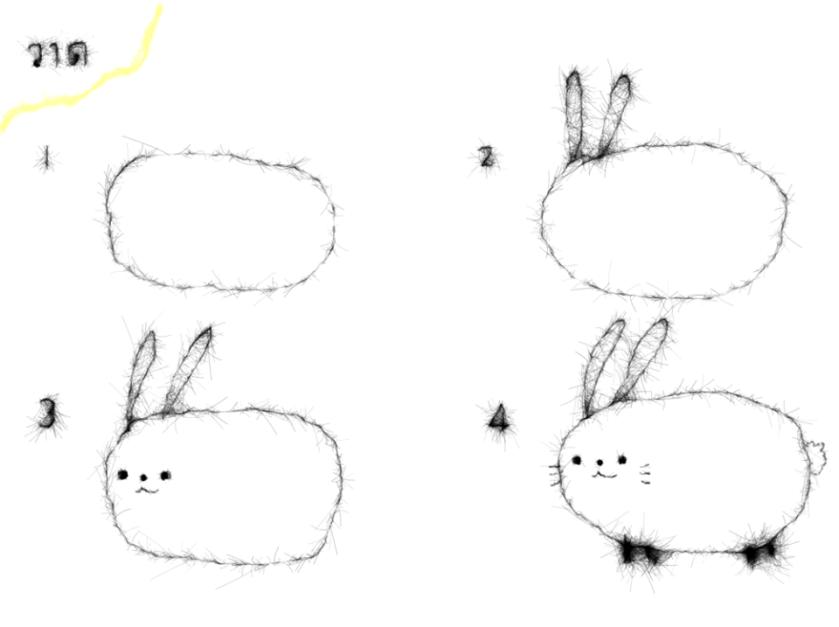 วิธีวาดรูปกระต่ายอย่างง่าย ๆ