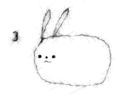 วาดรูปกระต่าย ขั้นที่ 3