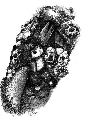 9) เจ้าหญิงถอนต้นไม้มาสู้กับปิศาจโครงกระดูก