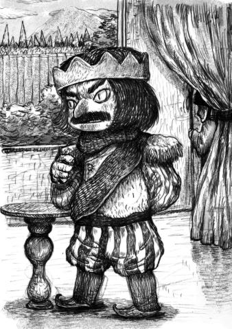 1) พระราชาองค์หนึ่งมองโลกในแง่ร้าย