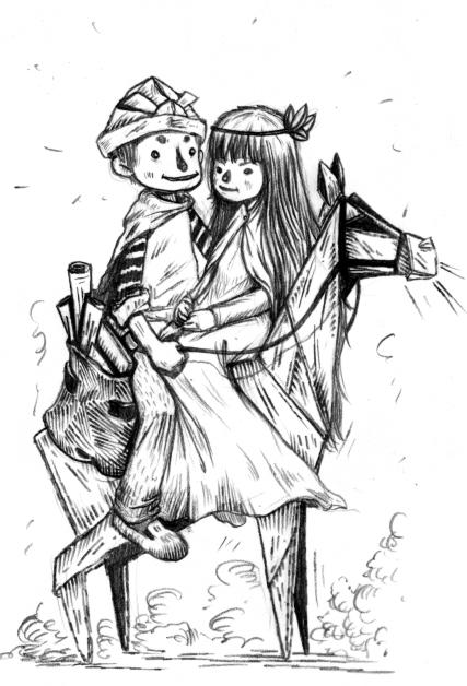 15) ชายหนุ่มพาเจ้าหญิงขี่ม้ากลับเมือง