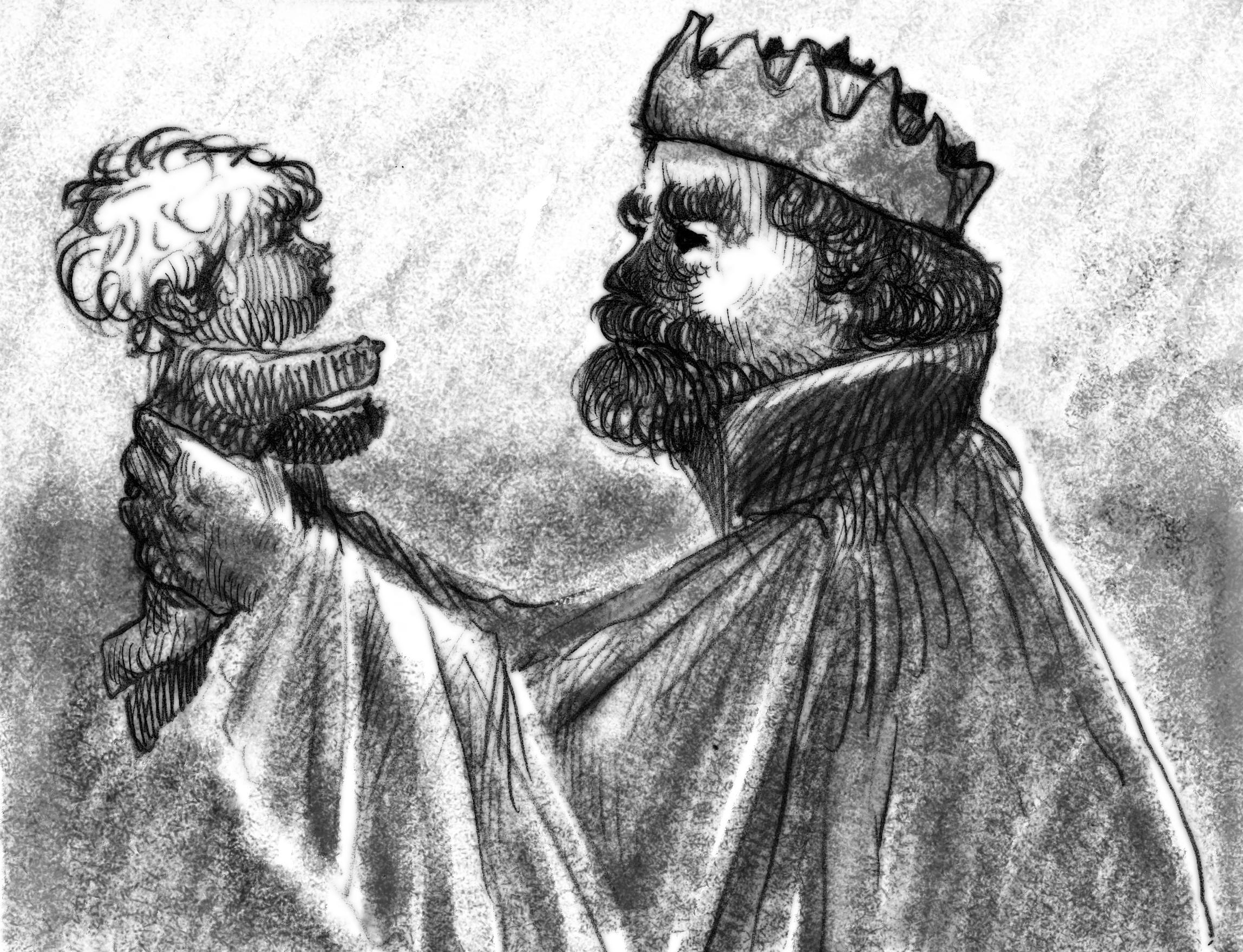 2) วันเดียวกันนั้น พระราชินีให้กำเนินเจ้าชายองค์แรก