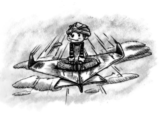 6) ชายหนุ่มนั่งเครื่องบิน