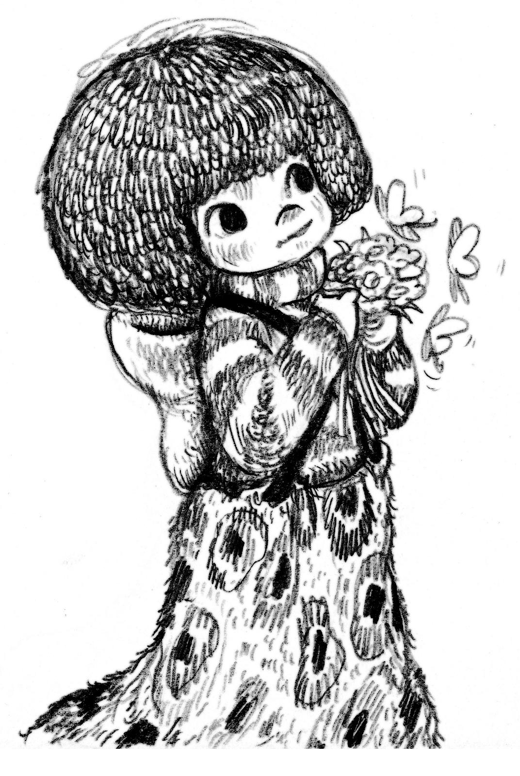 ปก) ภาพสาวน้อยกับชุดหนอน
